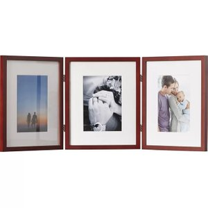 Baber Hinged Triple Picture Frame Walnut