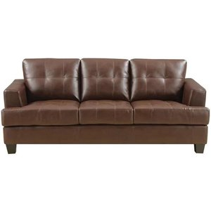 Silva Leather Sofa Dark Brown