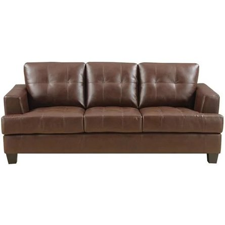 Silva Leather Sofa Dark Brown