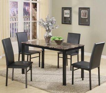 Dereni Dining Set For 4 Black