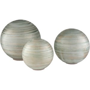 Rondure Decor Dark Green And White (Set of 3)