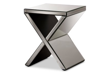 Baxton Studio Morris Accent Side Table Silver