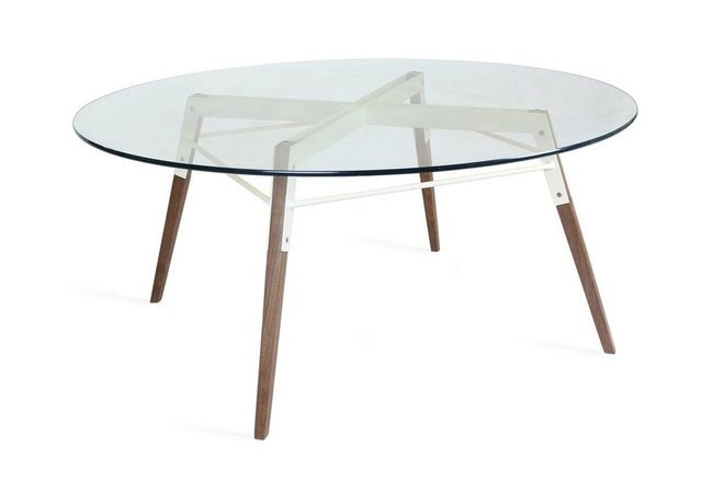 Ross Coffee Table Walnut And White