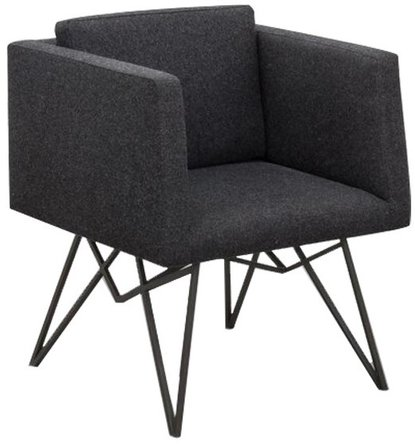 Truss Lounge Chair Black And Gray