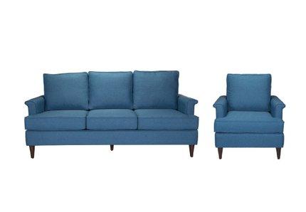 Campbell Sofa + Arm Chair Set Blue