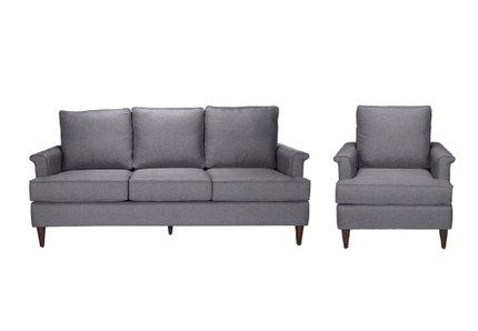 Campbell Sofa + Arm Chair Set Dark Gray