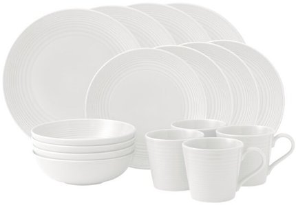 Maze 16-Piece Dinnerware Set White