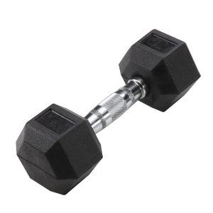 Hex 15 lb Dumbbell Black (Single Unit)