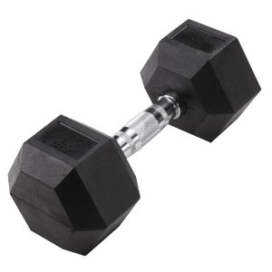 Hex 30 lb Dumbbell Black (Single Unit)