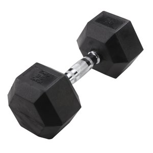 Hex 35 lb Dumbbell Black (Single Unit)