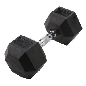 Hex 45 lb Dumbbell Black (Single Unit)
