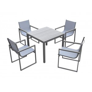 Shelby Bistro Dining Set For 4 Gray