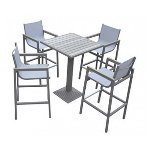 Sharon Outdoor Patio 5 Piece Set Gray