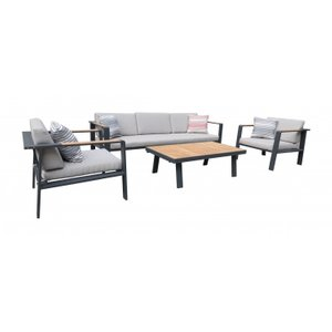 Ruben Outdoor Patio Set Charcoal