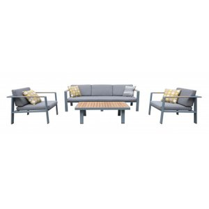 Ruben Outdoor Patio Set Gray