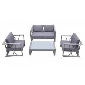 Outdoor Patio Aluminum Set Gray