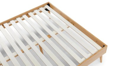 Culla Upholstered King Bed Gray & Oak
