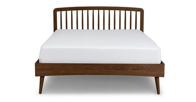 Article Culla Spindle Queen Bed Walnut