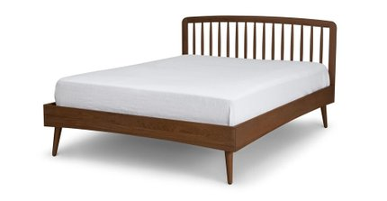 Article Culla Spindle King Bed Walnut