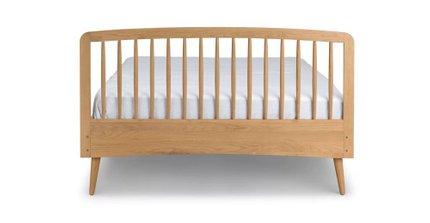 Culla Mid Century Modern Queen Bed Oak