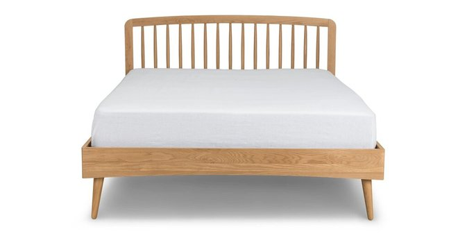 Article Culla Spindle King Bed Oak