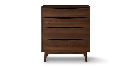 Culla 4 Drawer Dresser Walnut