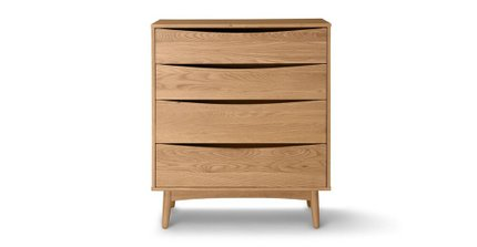 Culla 4 Drawer Dresser Oak