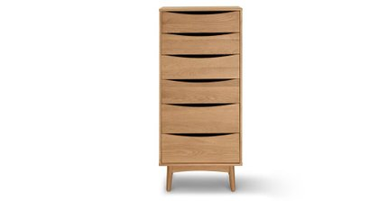 Culla 6 Drawer Dresser Oak