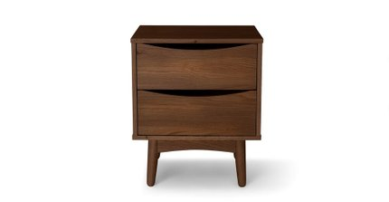 Culla 2 Drawer Night Stand Walnut