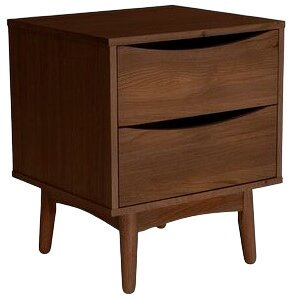 Article Culla 2 Drawer Night Stand Walnut