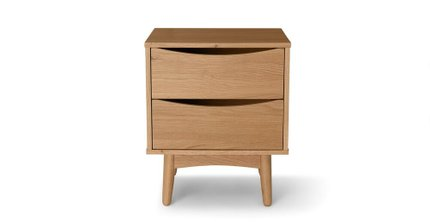 Culla 2 Drawer Night Stand Oak