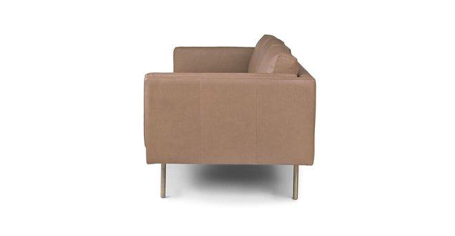 Belez Contemporary Leather Sofa Yuma Mink Taupe