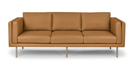 Belez Contemporary Leather Sofa Yuma Tan