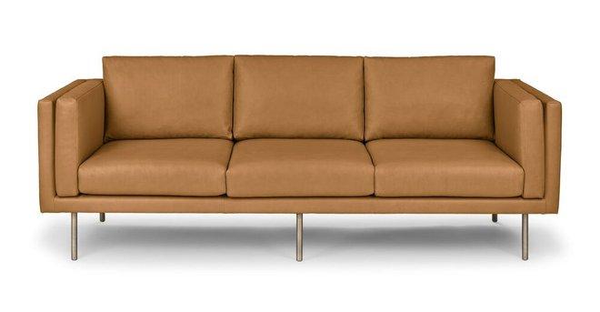 Belez Contemporary Leather Sofa Yuma Tan
