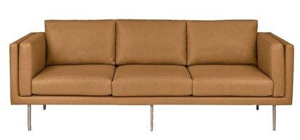 Article Belez Contemporary Leather Sofa Yuma Tan