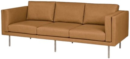 Article Belez Contemporary Leather Sofa Yuma Tan