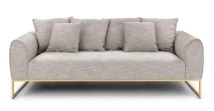 Kits Mid-Century Modern Sofa rain Cloud Gray