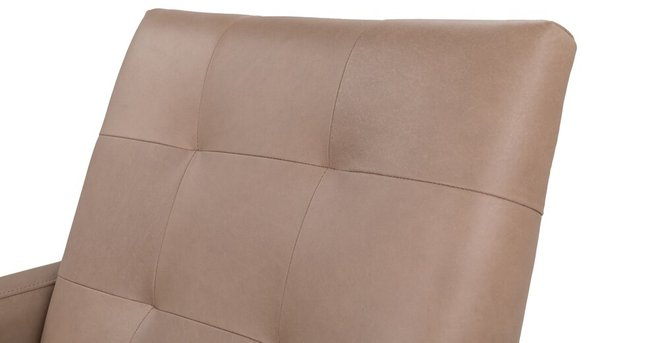 Bisa Leather Armchair Mink Taupe