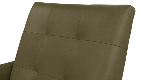 Bisa Leather Armchair Olive Green