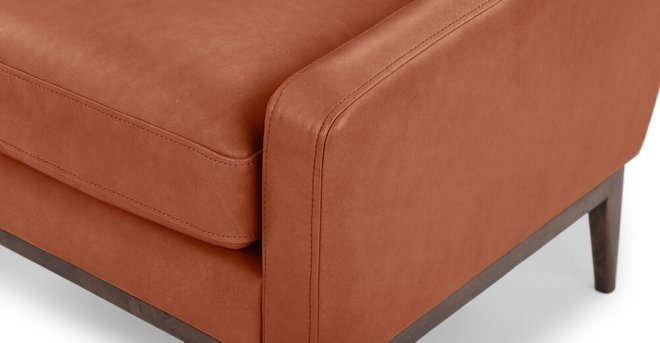 Bisa Leather Armchair Terra Red
