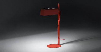 Techni Table Lamp Red