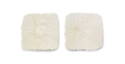 Lanna Sheepskin Seat Pad Ivory (Set of 2)