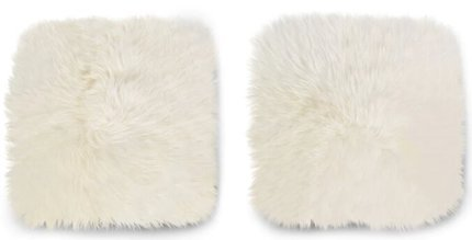 Article Lanna Sheepskin Seat Pad Ivory (Set of 2)