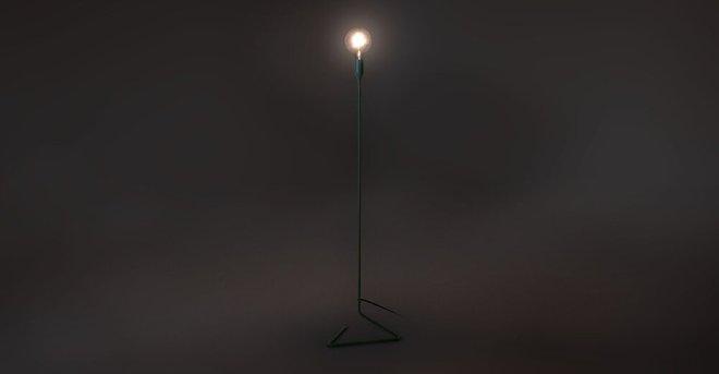 Elbo Floor Lamp Blue