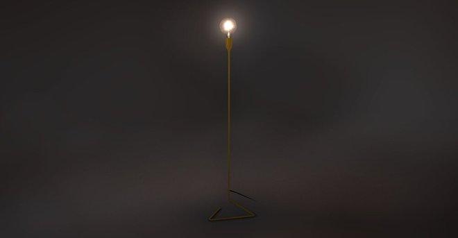 Elbo Floor Lamp Yellow