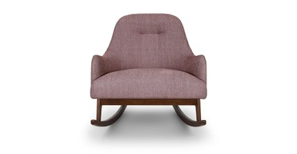 Embrace Fabric Rocking Chair Spice Pink