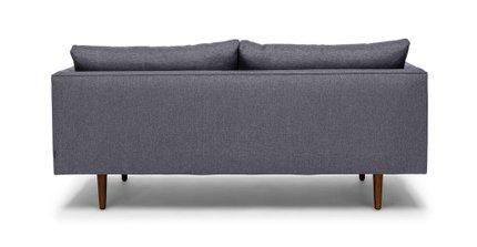 Burrard Mid-Century Modern Love Seat Stone Blue