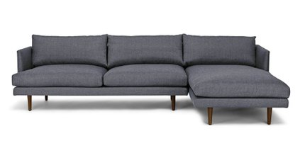 Burrard Right Sectional Sofa Stone Blue