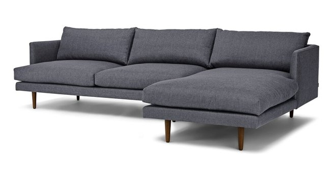 Burrard Right Sectional Sofa Stone Blue