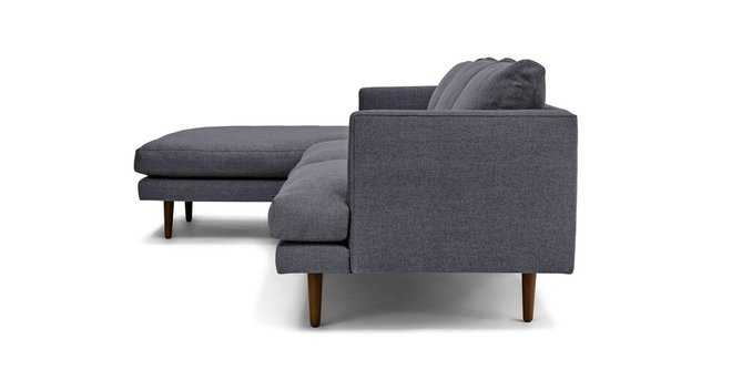 Phenomenal Burrard Left Sectional Sofa Stone Blue Gamerscity Chair Design For Home Gamerscityorg